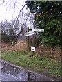 TM2450 : Roadsign &amp; Footpath sign on Riverside by Adrian Cable