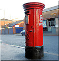 J3774 : Pillar box, Belfast by Albert Bridge
