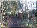 TQ4166 : Bridge over the River Ravensbourne in the north of Barnet Wood by Mike Quinn