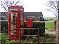 TM3181 : Telephone Box &amp; St.James Postbox by Adrian Cable