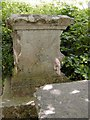 SY6971 : Pirate Gravestone, Church Ope Cove, Dorset by Vivien Hughes