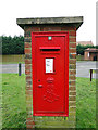 TM4977 : Large Edward VII pillar postbox at Reydon by Adrian S Pye