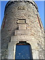 SD9602 : Detail of The Tower, at Hartshead Pike by Steven Haslington