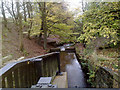 SD8725 : River Irwell in Weir, Lancashire by Steven Haslington