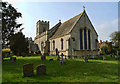 SP8027 : St Swithun's Church and Churchyard, Swanbourne by Cameraman
