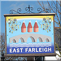 TQ7353 : East Farleigh village sign by Oast House Archive