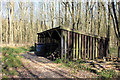 TL1267 : Storage shed in woodland by Simon Judd