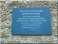 TQ1116 : Holy Sepulchre, Warminghurst: plaque by the west door by Basher Eyre