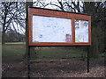 SP0682 : Distinguished Notice Board, Highbury Park by Michael Westley