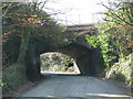 SX2861 : Minor road goes under the railway near Menheniot Station by Sarah Charlesworth