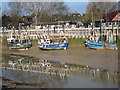 TQ9220 : Fishing Boats on the River Rother by Oast House Archive