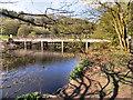 SD7314 : Jumbles Reservoir, Footbridge by David Dixon