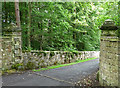 NY8875 : Gate piers near Wark (1) by Stephen Richards