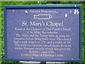 TQ7608 : Sign for St Mary's Chapel ruins by Oast House Archive