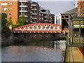 SJ8398 : River Irwell, New Quay Street Bridge by David Dixon