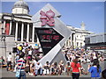 TQ2980 : London 2012 Olympics Countdown Clock, Trafalgar Square by PAUL FARMER