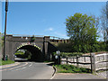 TQ2846 : Railway bridge over Honeycrock Lane by Stephen Craven