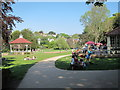 TQ8110 : Bandstand & Café at Alexandra Park by Oast House Archive