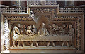 TQ4973 : St John the Baptist, Parkhill Road, Bexley - Reredos by John Salmon