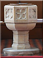 TQ4973 : St John the Baptist, Parkhill Road, Bexley - Font by John Salmon