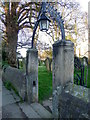 NZ2809 : Gate, St Peter's Church by Miss Steel
