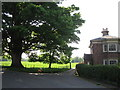 SJ8773 : Henbury Hall entrance, School Lane by Peter Turner