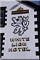 SH6076 : White Lion Hotel, Beaumaris, Sign by Christine Matthews