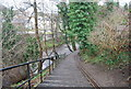 NT2373 : Water of Leith Walkway descends to Water of Leith, Roseburn by Nigel Chadwick