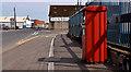 J3476 : Metered-mail box, Belfast by Albert Bridge