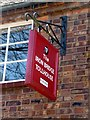 SJ6703 : Sign on Toll House, Ironbridge, Shropshire by Christine Matthews