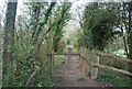 TQ0232 : Gate on the Wey South Path by N Chadwick
