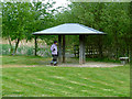 ST5382 : 10th Anniversary 'Gazebo' built by SUSTRANS in 2005 by Anthony O'Neil