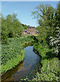 SO8688 : The Smestow River at Greensforge, Staffordshire by Roger  Kidd