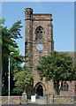 SO8996 : St Philip's Church main entrance in Penn Fields, Wolverhampton by Roger  Kidd