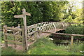 TL5448 : Footbridge over River Granta, Hildersham by Rob Noble