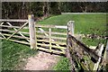 SJ4160 : Footpath Gate near Aldford by Jeff Buck