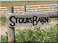 TM2961 : Stouks Barn Sign by Adrian Cable