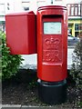 SH5638 : Elizabeth II Pillar Box, Porthmadog, Gwynedd by Christine Matthews