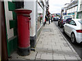 SN9767 : Elizabeth II Pillar Box, Rhayader, Mid-Wales by Christine Matthews
