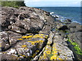 NS0147 : Rocky shore on the Arran Coastal Way by M J Richardson