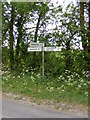 TG0524 : Roadsign on Reepham Road by Adrian Cable