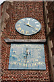 TQ2276 : St Mary, Church Road, Barnes - Church clock by John Salmon