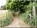 TM3055 : Footpath to All Saints Church & the B1438 High Street by Adrian Cable