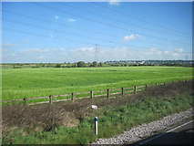 SJ4977 : Fields towards Grassy Lane from M56 by John Firth