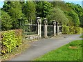 NS3684 : Gate of Arden House South Lodge by Lairich Rig