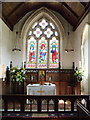 TQ0913 : Chancel, St. Mary's, Sullington, West Sussex by nick macneill