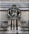 TQ2979 : &quot;Day&quot;: sculpture by Jacob Epstein, 55 Broadway by Julian Osley