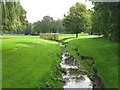 TQ4170 : The Kyd Brook, Sundridge Park Golf Course (14) by Mike Quinn