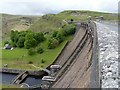 SN8663 : Along the top of the Claerwen dam wall by Richard Law