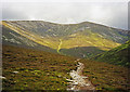NN9570 : The path below Beinn Bheag, Beinn a' Ghlo by wfmillar